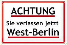 Achtung West Berlin steel fridge magnet   (na)