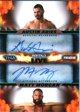 TNA Austin Aries & Matt Morgan 2013 Impact LIVE GREEN Autograph Card SN 5 of 50