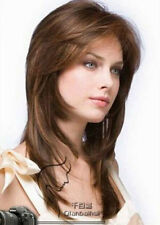 NEWJF163  charming long straight brown mixed wigs for women hair wig