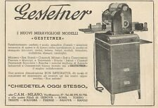 Z1080 GESTETNER - Pubblicità d'epoca - 1934 Old advertising
