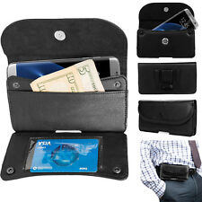 PU Leather Belt Clip Wallet Case Pouch For Samsung Galaxy S7 Edge/ S6 Edge Plus