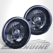 "7"" ROUND BLACK HOUSING DIAMOND CUT HEADLIGHTS - JEEP WRANGLER 97-03"