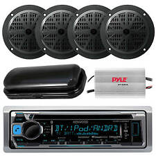 "New Kenwood Marine CD MP3 USB Input AM/FM Stereo 4 x 4"" Speakers /800W Amp"