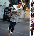 Womens Tops Double Zips Long Sweatshirt Hoodie Jacket Coat Sweater UK Size 8-22