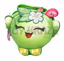 "SHOPKINS PURSE! APPLE BLOSSOM GREEN FRUIT SMALL FUZZY CARRY HAND BAG 7"" NWT"