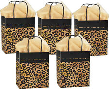 """Kraft Paper Gift Bags with Coordinating Tissue Paper - (5) Med 8"""" x 4"""" x 10"""""""