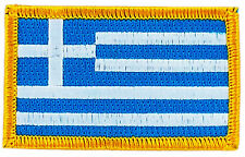 FLAG PATCH PATCHES GREECE GREEK  IRON ON COUNTRY EMBROIDERED WORLD SMALL