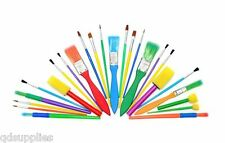 Assorted Set 25 Brushes & Foam Dabbers Childrens Painting & stencil craft 571-25