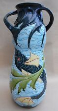 Wilhelm Schiller & Son Vase Art Nouveau Majolica Swimming Fish 40 cm In Height