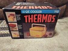 Vintage Thermos Sunpacker Yellow & Orange Cooler / Lunch Box model 7713 in Box
