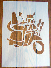 Lambretta Scooter Stencil Mask Reusable Mylar Sheet for Arts & Crafts, DIY