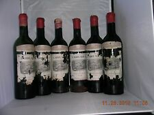1962 Carraudes Lafite Empty Wine Bottles With Original Wood Box