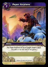 WOW PAPER AIRPLANE AEROPLANO DI CARTA LOOT FOIL UNSCRATCHED