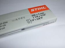 """6 x 5/32"""" Genuine STIHL (4mm) Sharpening Files suits Chainsaws 1/4"""" 3/8"""" Picco"""