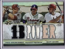 2014 TRIPLE THREADS - GOLDSCHMIDT/FREEMAN/ADAMS 1B POWER 7X RELIC 24/36