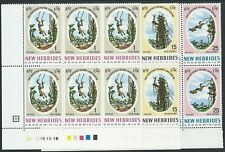NEW HEBRIDES 1969 Pentecost Land Divers set plate blocks of 6 MNH..........50944