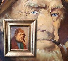 ALFRED ZIMMERMANN (*1854) Münchner Maler. Portrait Chiemseefischer Ölgemälde TOP