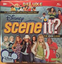 DISNEY CHANNEL Deluxe SCENE IT? il DVD di gioco in scatola di latta.