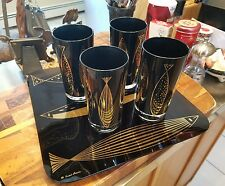 5 Piece Vintage Fred Press Cocktail Glasses with Serving tray EXCELLENT!!