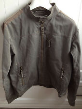 Burton Olive Green Light Cotton Zipped Jacket Bomber Men's Small Autumn Casual