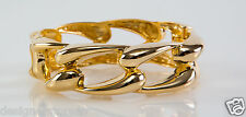 Kenneth Jay Lane Polished Gold Link Bangle Bracelet 5006BPG