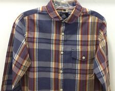 The Scifen Company Men's Junior Boys Small Size Chekers/Plaid Shirt Navy Multi