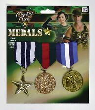 Fancy Dress Army Rambo Military Combat Hero Army Medals - P4356 BA584