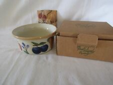 Longaberger Fruit Medley Pottery Ramekin Bowl in box #38521