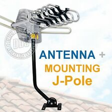 HDTV Outdoor Antenna Rotor Remote 360° UHF/VHF/FM 150 Miles w/ Mounting J-Pole