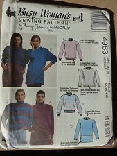 Mccall's paper pattern for women's tops, différentes longueurs, stretch tricot tissu