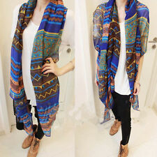Wrap Scarf New Lady Vintage Women Long Soft Cotton Voile Print Scarves Shawl Hot