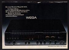 3w1299/ Alte Reklame - von 1974 - WEGA HiFi - Fellbach