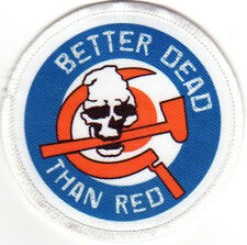 ANTI COMMUNIST AGAINST COMMUNISM BETTER DEAD THAN RED PATCH skinhead rock o rama