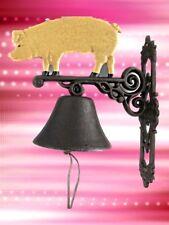 Wandglocke Gußeisen Schwein Tür Klingel Gescher klingt gut Geschenk Vintage Deko