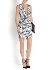 Finders Keepers The Creator Leopard Black White Low Cut Mini Dress Wedding XS M