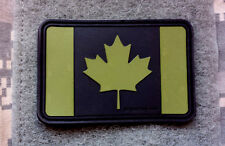 "OD s2  PVC PATCH Maple Leaf canada flag 7.5 x 5cm 3 x 2"" velcro rubber canadian"