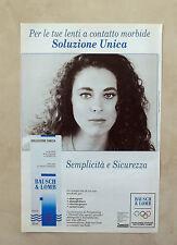 D896 - Advertising Pubblicità -1991- BAUSCH & LOMB PER LE TUE LENTI A CONTATTO