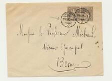 SWITZERLAND 1878, 2x5c HELVETIA ON COVER, DELEMONT CDS TO BERNE