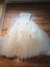 Mori Lee Ivory Tulle Rosettes Full-length, Wedding Ball Gown Prom Dress - Sz 1/2
