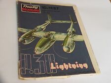 "PAPER-CARDBOARD MODEL KIT-MALY MODELARZ Lockheed ""Lightning"""