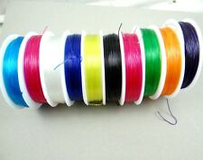 Mixed Pack of Assorted Clear Elastic Stretch Beading Thread Wire 10 Roll Special