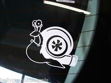Snail Turbo Shell White Cut Decal Sticker Turbocharged Turbocharger JDM Euro
