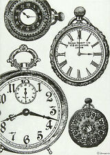 Ricepaper / Decoupage paper, Scrapbooking Sheets Black and White Clocks