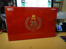 NEW Nintendo Wii Console Red 25th Super Mario Limited ed. Japan *FREE SHIPPING*