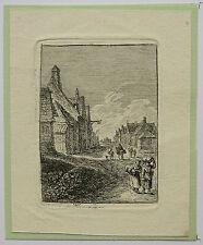 Eau-forte, F.E Weirotter, Rue de village, deuxième partie du XVIIIème