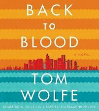 Back to Blood by Tom Wolfe abridged 12 CDS - Brand New