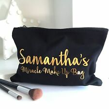 Personalised Gold Metallic Miracle Make Up Accessory Bag