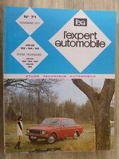 REVUE EXPERT AUTOMOBILE - VOLVO 142 / 144 / 145  - N° 71 NOVEMBRE 1971
