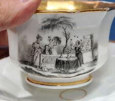 Porcelaine de Paris MAGICIEN ESCAMOTEUR 1820 / magicien magie escamoteur