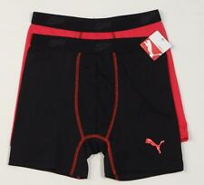 Puma Sport Trunk Underwear Red & Black 2 Pair Youth Boys XL 16-18 NWT
